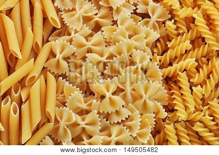 Raw Pasta background, food, pasta, texture, background