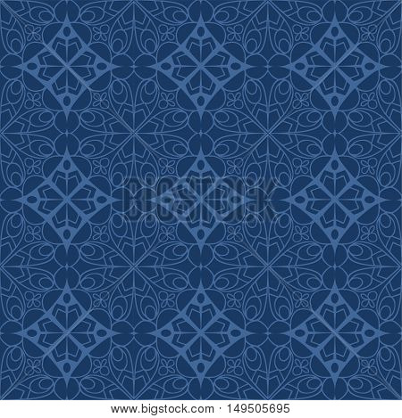 Seamless Pattern With Mandala Texture. Hand Drawn Decorative Ornament For Printing On Fabric Or Pape