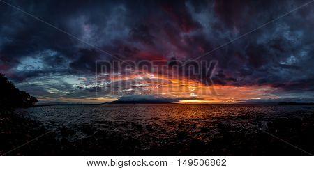 Sunset at a Rocky Beach, Northern California, USA