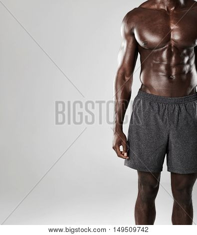 Young African Muscular Man Body