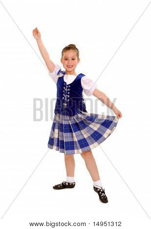 Traditional Celtic Or Irish Dancer