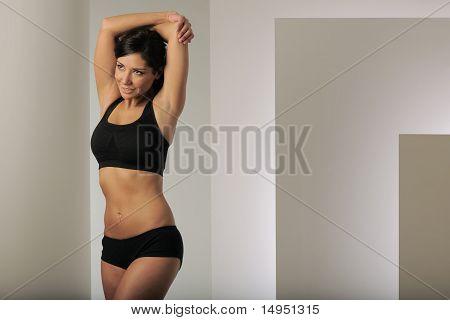 Brunette Arm Stretch