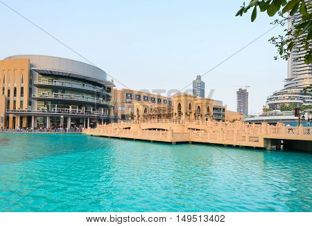 Man Made Burj Khalifa Lake, Fronting Dubai Mall.