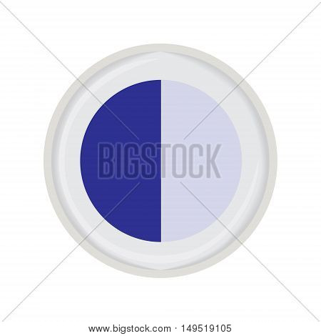 eye shadow duo blue vector isolated illustration