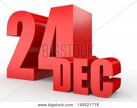 December 24. Text On White Background.