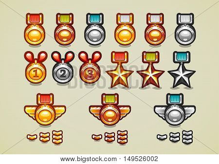 Medals and achievements for creating video game