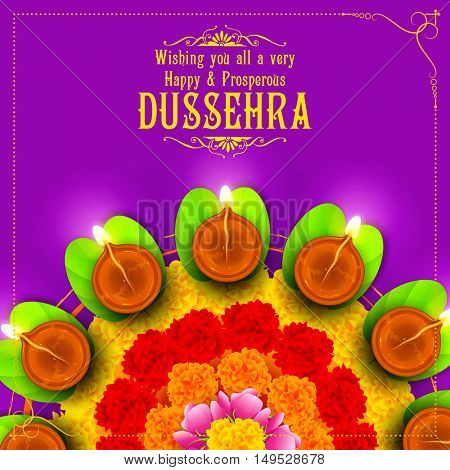 illustration of Sona patta for wishing Happy Dussehra