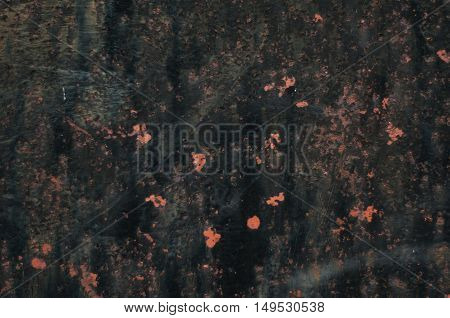 Chipped Black Painted Iron Panel