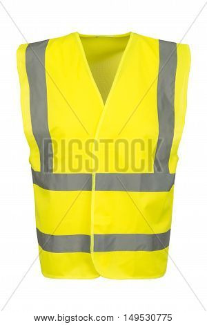 Cutout Of Front Of Yellow Safety Vest