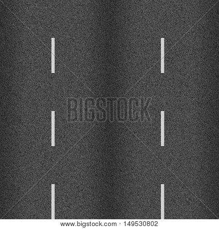 seamless texture road highway asphalt with white markings