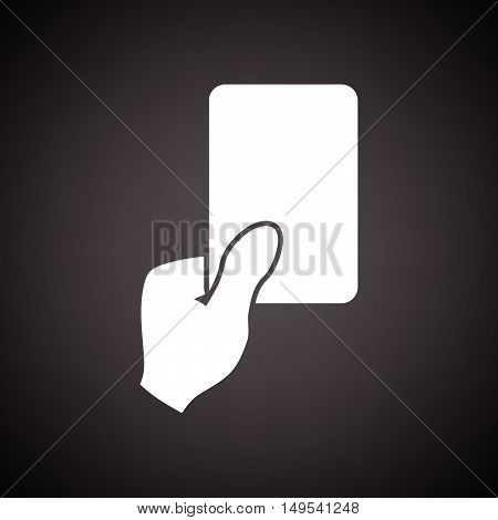 Soccer Referee Hand With Card  Icon