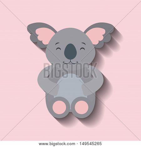 tender cute koala bear card icon vector illustration design