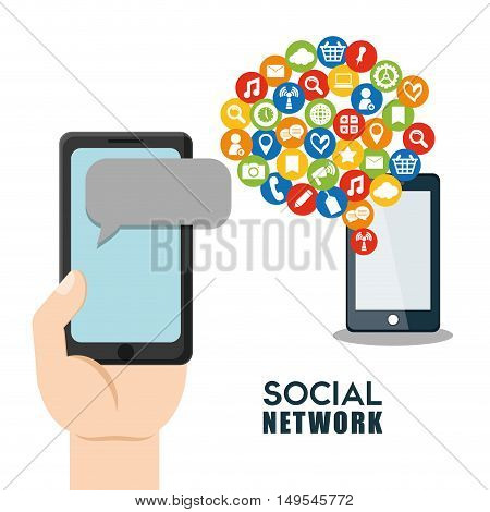 Social network cellphone message globlal networkings user