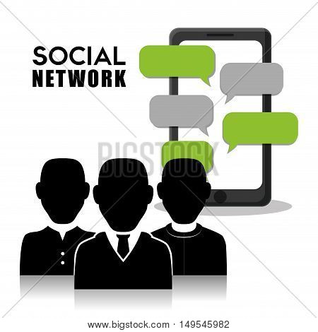 Social network man people business global networking mesaage