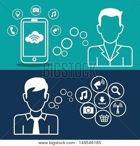 Social network message person icon global information
