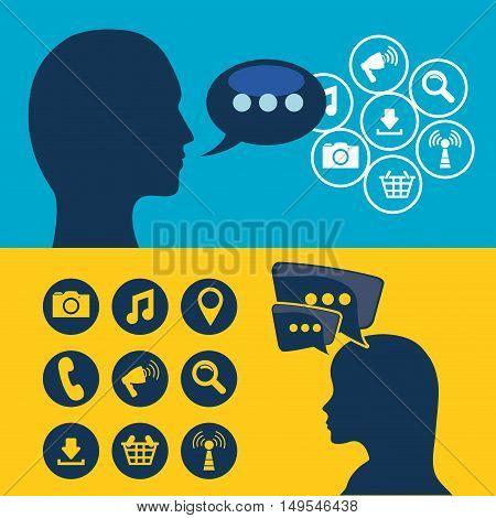 Social network message global speak voice information