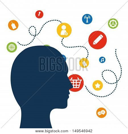 Social network person link icon information global