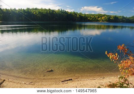 The Walden Pond in Concord, Massachusetts, USA