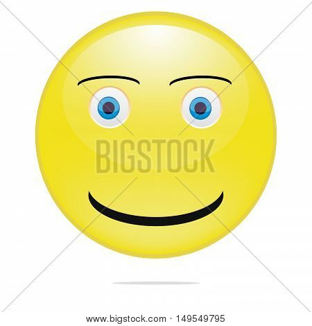 Yellow Smiling emoticon vector illustration. esp 10