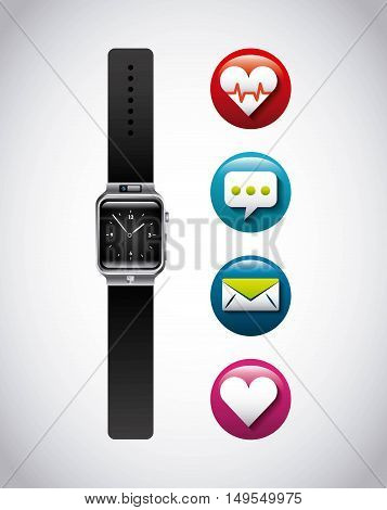 smartwatch wearable technology icon vector illustration design