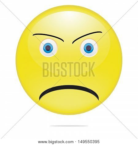 yellow smile vector illustration on white background