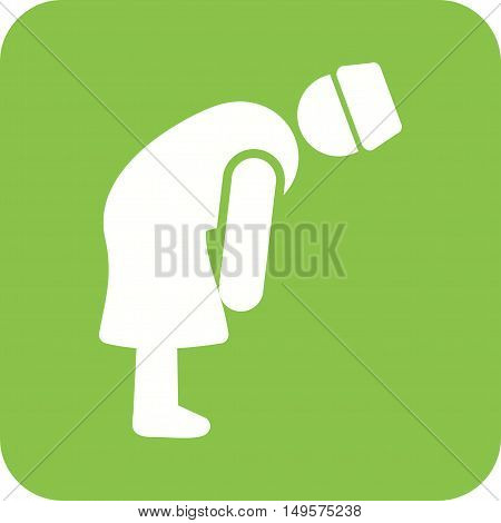 Islamic, namaz, rukooh icon vector image. Can also be used for islamic.