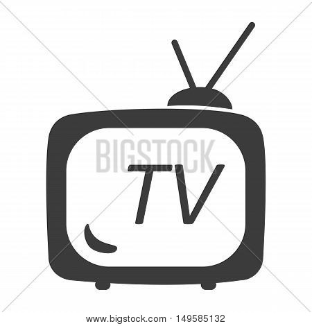 Vector tv icon. Flat icon tv. Flat vector illustration for web banner web and mobile. Vector tv icon graphic. Vector icon isolated on white background. tv vector icon in black.