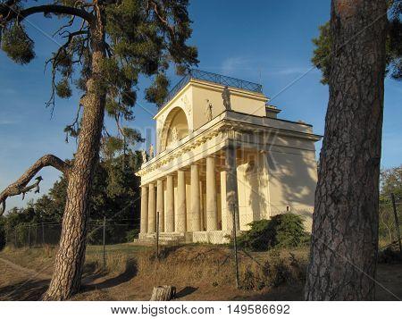 Lednice - Valtice Czech Republic - September 29 2011: Apollo Temple Located in Lednice Valtice complex South Moravia