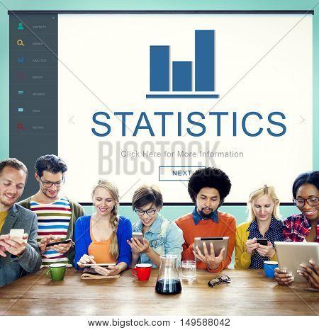 Statistics Result Summary Progress Chart Concept