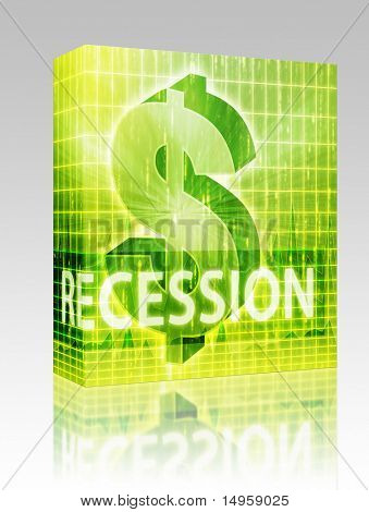 Software package box Recession Finance illustration, dollar symbol over financial design