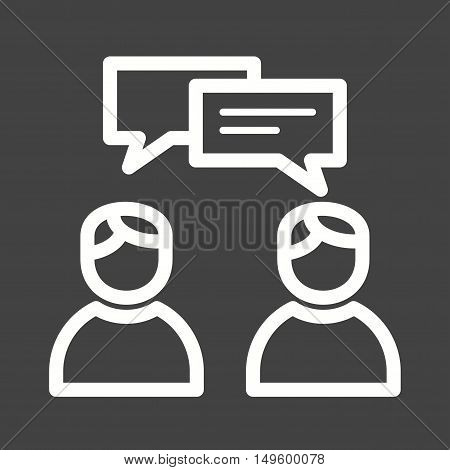 Agent, consulting, client icon vector image. Can also be used for software development. Suitable for mobile apps, web apps and print media.