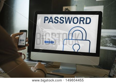 Password Log In User Register Concept