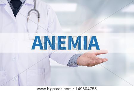 ANEMIA Medicine doctor hand working Doctor work hard and Doctor medical