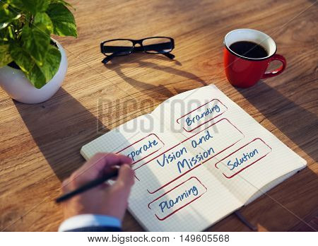 Business Person Writing Notebook Conecpt