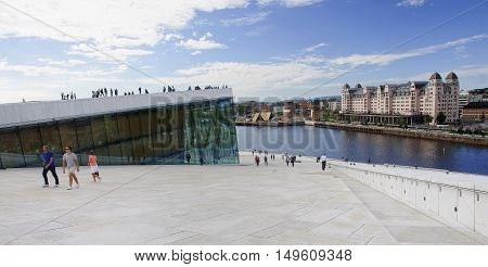 Oslo, Norway - September 17, 2016: Oslo Opera House On 17 Septem