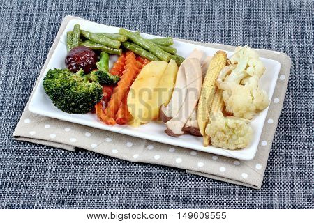 Fried mixed vegetables is food for Chinese Vegetable festival of Chinese as