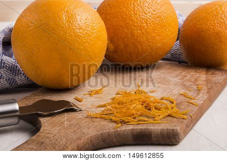 orange zest top layer of an orange peel it contains the fruit oil and adds a bright citrus flavor to many dishes