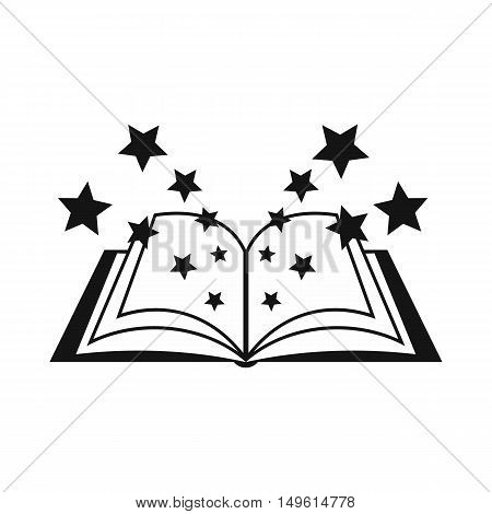 Magic book icon in simple style on a white background vector illustration