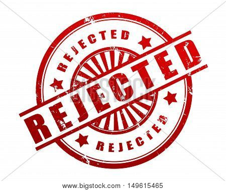 rejected rubber stamp illustration isolated on white background