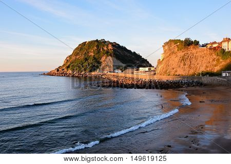 Town Of Getaria Basque Country Spain