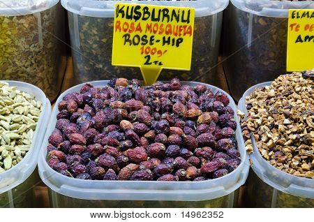 Rosehip Tea In Egyptian Spice Bazaar