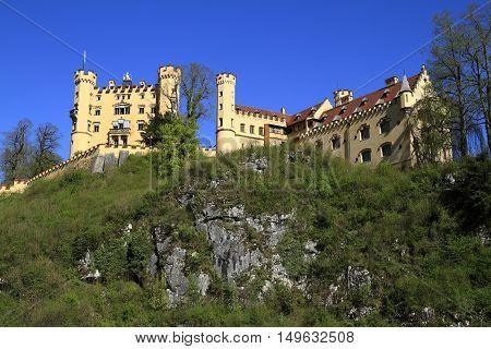 Hohenschwangau Castle In The Bavarian Alps