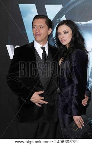 LOS ANGELES - SEP 28:  Clifton Collins Jr, Francesca Eastwood at the HBO's