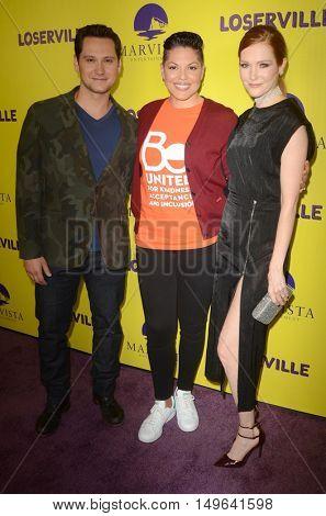 LOS ANGELES - SEP 29:  Matt McGorry, Darby Stanchfield, Sara Ramirez at the
