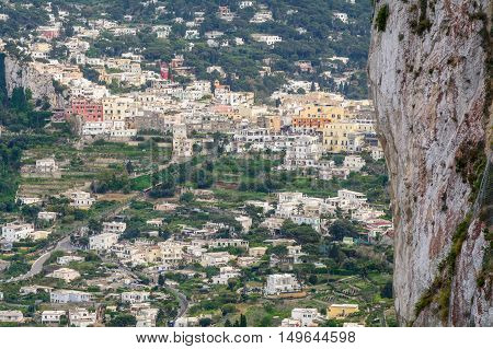 Capri, Italy - June 11: Capri Island On June 11, 2016 In Capri, Italy. The Island Of Capri Is A Very