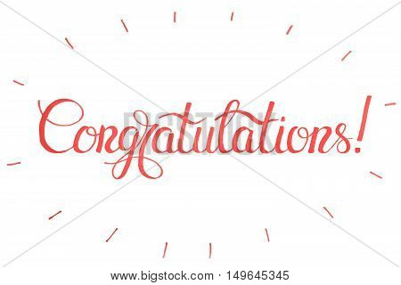 Vector holiday illustration.Congratulations card.Congratulations, congratulations banner, congratulations cardTypography Lettering