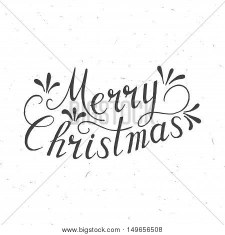 Merry Christmas Lettering Design. Vector illustration. Element for congratulation cards banners and flyers. Congratulation concept.