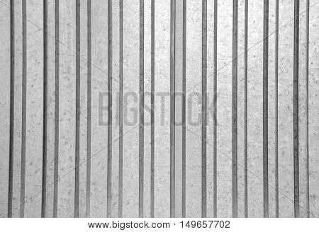 Corrugated iron background texture black and white