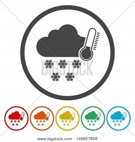 Weather symbols icon set on white background