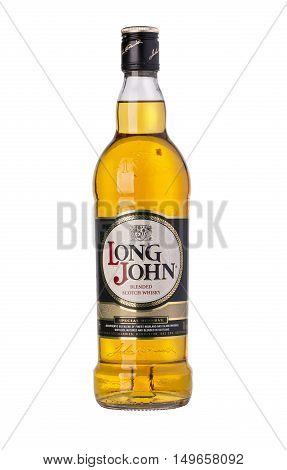 :whiskey Bottle On White Background
